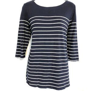 LAILA JAYDE Nautical Navy White Striped Top ~sz M